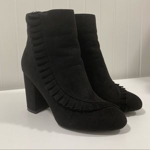 JustFab Pleated Ankle Boots